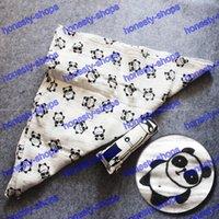 Wholesale 300pcs CM Muslin Organic Cotton INS Blankets Double Layer Baby Gauze Bath Towel Crossed Grid Star Tent Panda Blanket