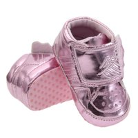 angels hook - FREE DHL PU baby shoes Golden Horse Wing Low to help boots Soft bottom warm Anti skid Angel wings Toddler shoes Colors