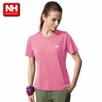 Wholesale NatureHike New Women Round Short Sleeve Outdoor Comfy Breathable sports Fast drying T shirt