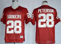 adrian peterson number - 2016 New Oklahoma Sooners College Adrian Peterson Red Football Jerseys Stitched Name Number and Logos