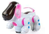 Wholesale 2016 Strange new electric robot dog with light music Hot Wheels chasing its tail children s educational toys e mail treasure
