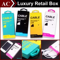 Wholesale Luxury Universal Micro USB Charger Adapter Cable Paper Retail Package Packing Packaging Box with Handle High Quality for iPhone Samsung HTC