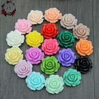 Wholesale 100pcs Assroted Bloom Rose Resin Cabochon Flower Flat Back Flower Cabs mm