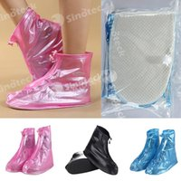 Wholesale 2016 Rain Boots PVC Material Unixes Male Female Women Durable Travel Outdoor Waterproof Flatties Rain Day Shoe Covers Free DHL