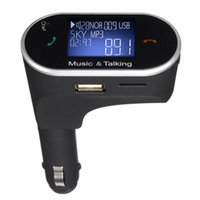 Wholesale Aux Handsfree FM Transmitter Wireless Bluetooth Car Kit MP3 Player With Trendy LCD USB Car Charger For Samsung iPhone Mobile