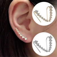 Wholesale 50 OFF Elegant Women Ear Hook Plated Crystal Rhinestone Pearl Earrings For Lady Girl Stud Earrings a2