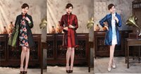 women s 16 coat with best reviews - Double face Chinese women's silk jacket coat Cheongsam Size 6 8 10 12 14 16 Black red black blue Black green