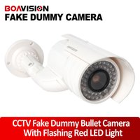 Wholesale Home Security Fake Camera bullet Simulated video Surveillance indoor outdoor Surveillance Dummy Ir Led Fake Dome camera