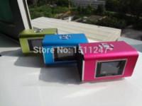 active alarm clock - NiZHi TT6 Mini Portable Speaker Digital Sound Box For iphone SumSung pc tablet Mp3 player With FM radio Alarm Clock Function