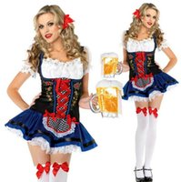 alice german - German Beer Girl Maid Fancy Dresses Adult Ladies Alice in Wonderland Bavarian Oktoberfest Wench Womens Fantasia Outfit Costumes