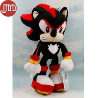baby hedgehogs - New Sonic Shadow the Hedgehog Black Plush Peluches Doll with Sucker cm Anime Figure Baby Dolls Brinquedos Kids Toys Collection