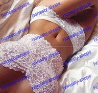 Wholesale Women s Sexy Lingerie Sleepwear Intimates Lace Underwear Babydoll Dress G string Nightwear Clothing Sex Set White