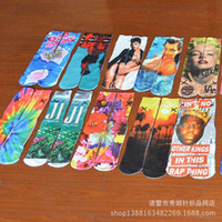 Wholesale 2016 Top Sale Unisex D Socks Fashion Thin Sports Stockings Hip Hop Animals Cartoon Emoji Odd Socks for Men Star Wars pairs DHL