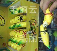 banana bread gift - New CM New Rare Happy Face Banana Squeeze Toy Squishy Charm Gift Cartoon squishy Bread Fun