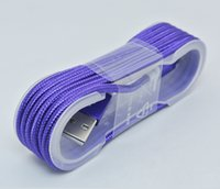 Wholesale 1 M Unbroken USB Date Line Strong Braided Nylon Wire USB Connector Charger cable Sync For i6s s and Android v8