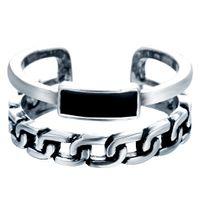 animal rocker - 925 Sterling Silver Chain Band Rocker Biker Adjustable Ring size Women Jewelry Women Party Rings Wedding Gifts