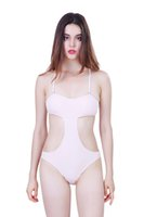 Wholesale 2016 New arrival Brazelle Sexy swimsuit in one piece for women show the waist solid bathing suit bandage bodysuit