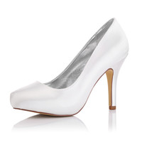 made in china shoes - 2017 Manmade Plain Upper Dyeable Satin Wedding Dress shoes Platform White Color Women Bridal Wedding Shoes Made in China