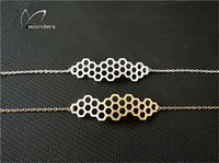 best friends jewellery - New Fashion Beehive Bracelets Bangles Stainless Steel Chain Geometric Beehive Bracelet Best Friends Jewellery B032