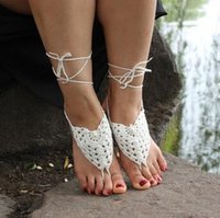 Wholesale 10pair flowder Beach Barefoot Sandals Stretch Anklet Chain With Toe Retaile Sandbeach Wedding Bridal Bridesmaid Foot Jewelry