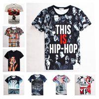 Wholesale 2016 Hip Hop Galaxy Space Printed Creative T Shirt D Men s TShirt Summer Novelty D Feminina Psychedelic Tee Shirts Clothes