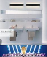 bathroom mirror sconces - 2016 New Designer Black White LED Stairs bedroom living room background lamp lights Aluminum Bathroom mirror light wall sconces MYY