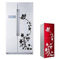 Wholesale Home Decor Beautiful Butterfly Flower Wall Stickers Wardrobe Fridge Wallpaper Removable Waterproof PVC Environmental Protection Wall Sticker