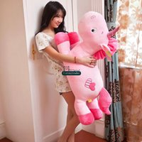 baby horse free - Dorimytrader New cm Giant Stuffed Soft Plush Cartoon Unicorn Horse Toy Doll Nice Gift for Baby DY60258