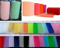 tulle spool - 2017 new hot sale quot x100yard White Tulle Rolls Spool Tutu DIY Craft Home Fabric Decorations U pick color free ship