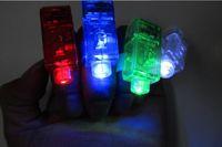 Wholesale Magic finger lights Bright LED laser Finger Ring Light Lamp Beams Torch For Party KTV Bar gift