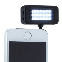 Wholesale Photographic Lighting LED Cool White Mini External LED Speedlite Flash Spot Light For Phone With MM Earphone Plug