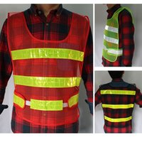 Wholesale Reflective Vest Working Clothes Provides High Visibility Day Night for Running Cycling Walking Etc Men Warning Safety Coat