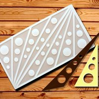 baking tile - Triangle Shape Baking Mold Baking Supplies Round Cookie Chocolate Cake Sugar Plastic Craft Decorating Tools Tiles