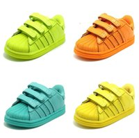 Wholesale Breathable Children Sneakers Shoes Cheap stan smith superstar Retro Kids Running Shoes for Outdoor Patent Leather Material Hot Sale