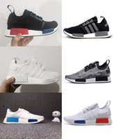 Wholesale 2016 New NMD Runner Primeknit Men S Running Shoes Fashion Running Sneakers for Men and Women Size US Black White