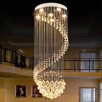 Wholesale Modern K9 Clear Crystal Ceiling Light Pendant Lamp Chandelier Light Indoor Lighting LED Ceiling Light Living Room Corridor Chandeliers