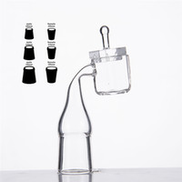 clear nail polish - Quartz Set Sugar Cube Banger Nail And New Design Carb Cap Square Clear Joint mm Thickness Side Pocket Polished Dab Rig