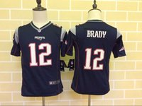 arrival patriots - 2016 New Arrivals Patriots Youth Brady Blue Stitched Kids Jerseys Free Drop Shipping lymmia Mix order