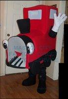 advertising training - New Custom Mascot Red Train Mascot Costume Adult Anime Cosply Vihicle Theme Costumes Advertising College Mascotte Fancy Dress