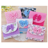 Wholesale 3pcs Korea Cotton Cute Bow cloth panty liner sanitary pads menstrual pads cloth pads