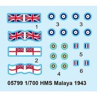 battleship model kits - 1x High Quality Trumpeter HMS Malaya Battleship Model Kit Model Toys
