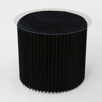 Wholesale H50xDia56cm Innovative Furniture Pop Small Table Round Indoor Tea Table Waterproof Accordion Style Kraft Small Negotiating Table Black