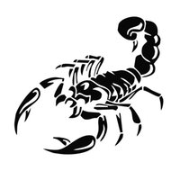 Wholesale 1Pcs Color CM Reflective D Scorpion Stickers Cool Styling Vinyl Decal Auto Sticke For All Car And Kids Toys