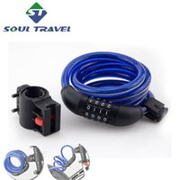 alarm lock cable - Soul Travel Steel Reflective Combination Bicycle Bike Fixed Frame Password Lock Accesorios Bicicleta New Bicicletas Cycling Alarm