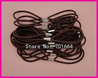 bargain gifts - 50PCS mm Double Circles Brown Elastic Bands as connecter of headbands with metal button BARGAIN for BULK