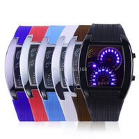 aviation displays - Digital LED Backlight Military Wrist Watch Wristwatch Sports Meter Dial Watches For Men New Fashion Aviation Turbo Dial Flash LED Watch Gift