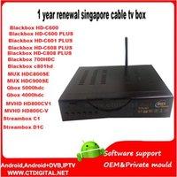 ICAM cuenta ZCam renovar anualmente la caja negra C600-1-808 c801hd 700HDC HDC900-800SE C1 QBox HD receptor de Singapur CCcam TV por cable Caja QBox