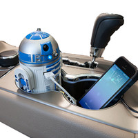 american output - Genuine American Star Wars robot R2 D2 USB Car charger A cigarette lighter astromech droid power supply for mobile phone Christmas gift