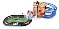 big parking lot - Alloy Car Model Toys City Traffic System Educational Toy Parking Elevator Gas Station Kid Christmas Gifts Collecting Decoration