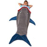 Cheap Mermaid Tail Sleepsack Shark Blanket Animal Adult Sleeping Bag Pajamas Overalls Sleeping Robe Quilt Sleeping Blankets